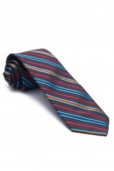 Cravata grena cu dungi