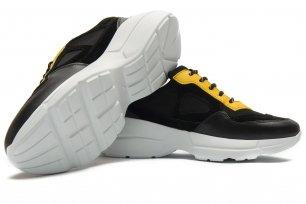 Sneakers negri piele naturala