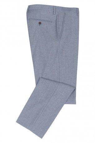 Pantaloni slim conti bleu uni