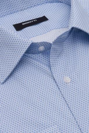 Camasa shaped albastra print geometric
