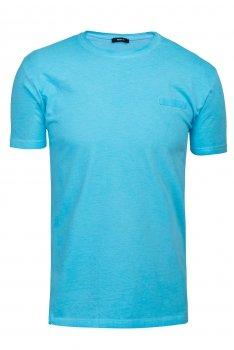 Tricou slim Bleu uni
