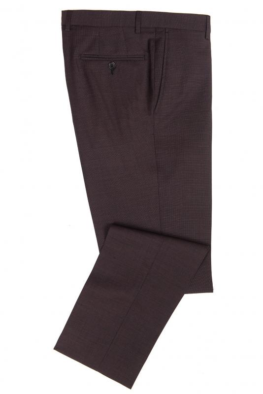 Pantaloni superslim fabian pruna uni