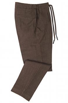 Slim body Brown Plain Trouser