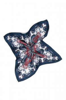 Batista bleumarin print floral matase tesuta