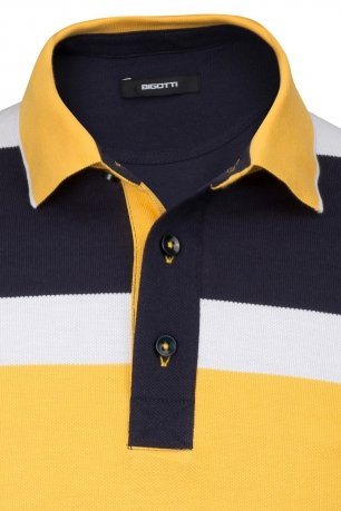 Tricou polo slim in dungi