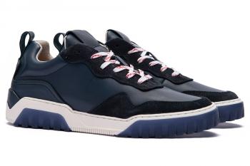 Navy Piele mata + piele velurata Shoes