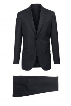 Costum slim conti negru cu structuri
