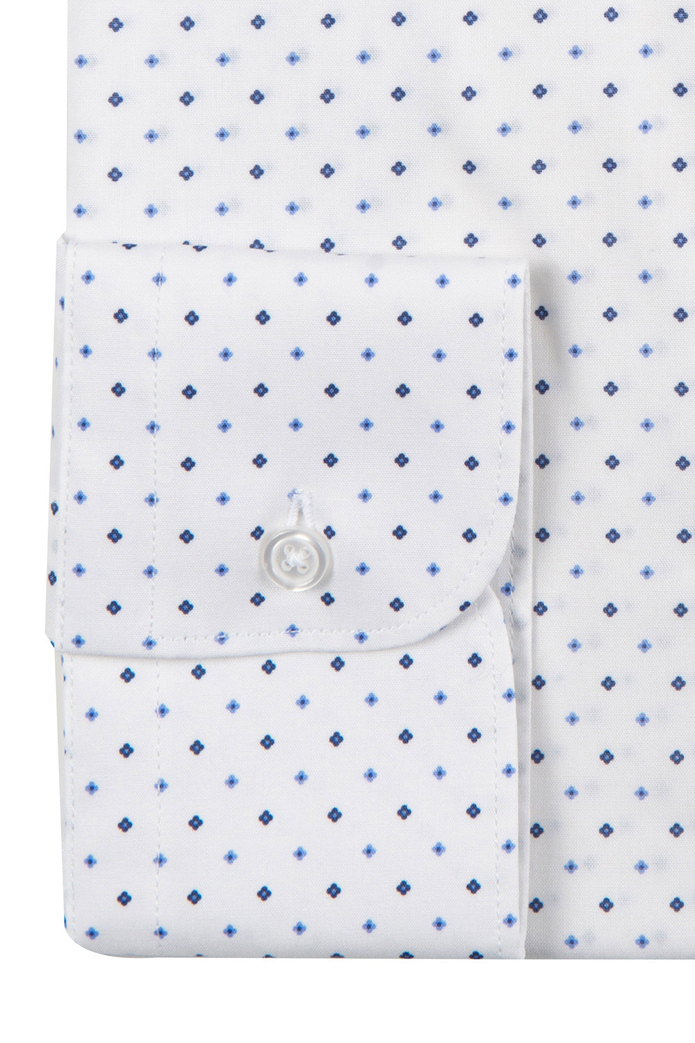 Camasa slim stretch alba print geometric 2