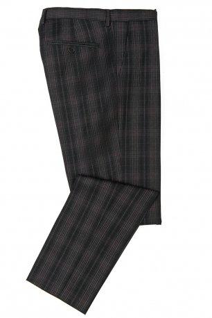 Pantaloni conti gri in carouri