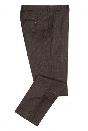 Pantaloni superslim fabian maro in carouri