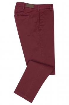 Regular Burgundy Plain Trouser