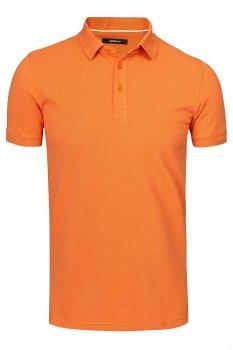 Tricou polo slim oranj uni
