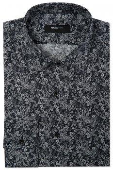 Camasi Slim Neagra print Floral