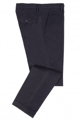 Pantaloni slim bleumarin uni