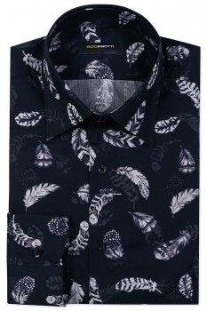 Camasa Slim Negru print geometric