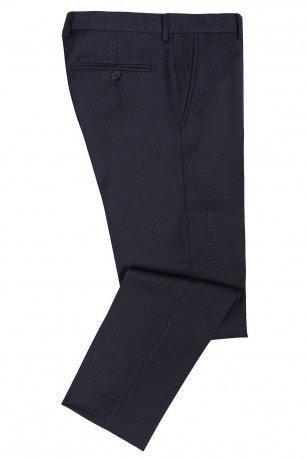 Pantaloni slim conti bleumarin print geometric