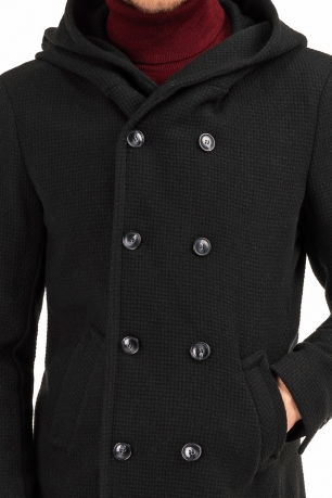 Palton negru uni