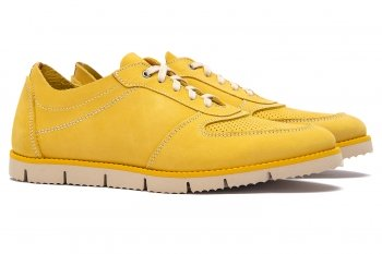 Yellow Nubuck leather Shoes