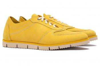 Sneakers Galbeni Piele nabuc