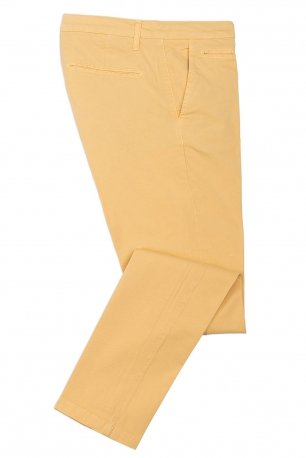 Pantaloni slim galbeni uni