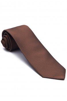 Cravata oranj pint geometric
