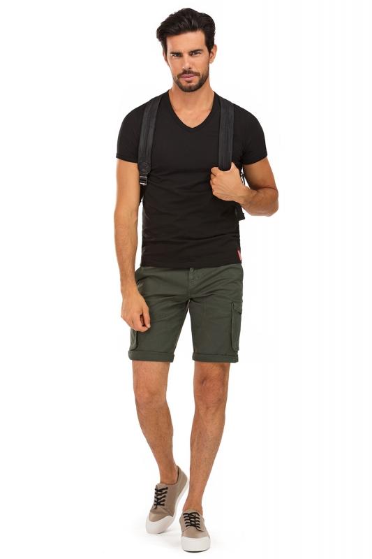 Pantaloni scurti verzi uni