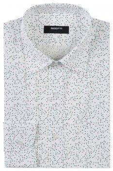 Camasa Superslim Alba print Geometric