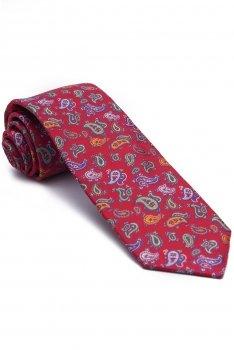 Cravata rosie print floral