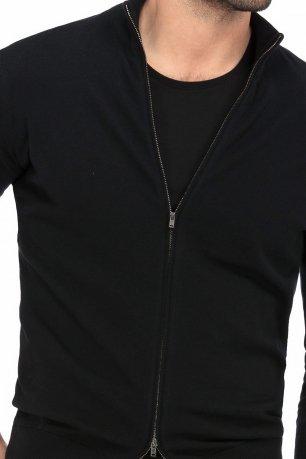 Pulover regular negru uni