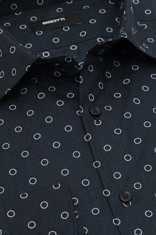 Camasa shaped neagra print geometric