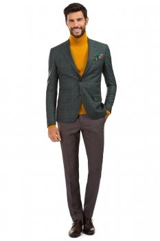 Green Check Blazer