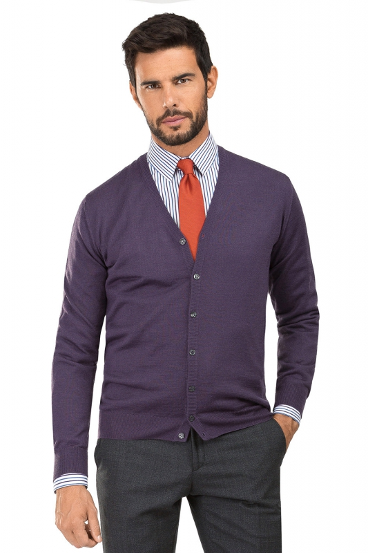 Cardigan slim mov