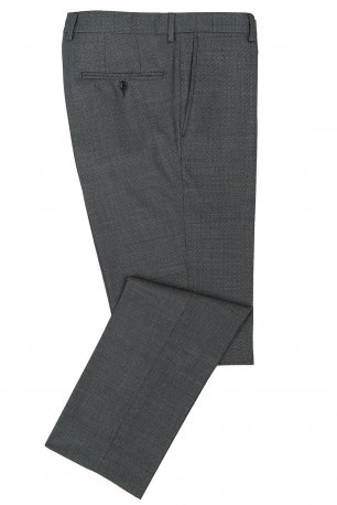 Pantaloni superslim fabian gri print geometric