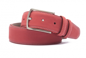 Belt Red Nubuck leather
