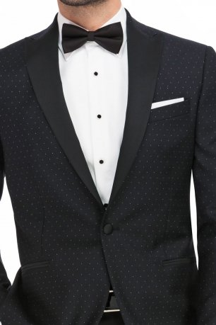 Sacou slim marcus negru print geometric