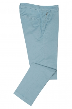 Slim body Light blue Plain Trouser