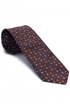 Burgundy Geometric Tie
