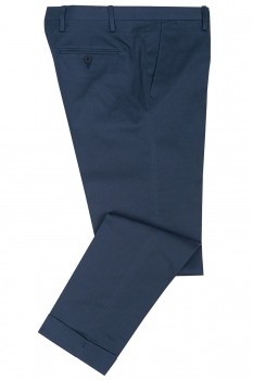 Slim Blue Plain Trouser