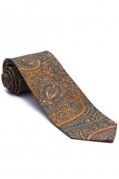 Cravata matase gri print floral