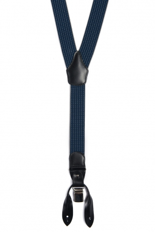 Bretele albastre print geometric