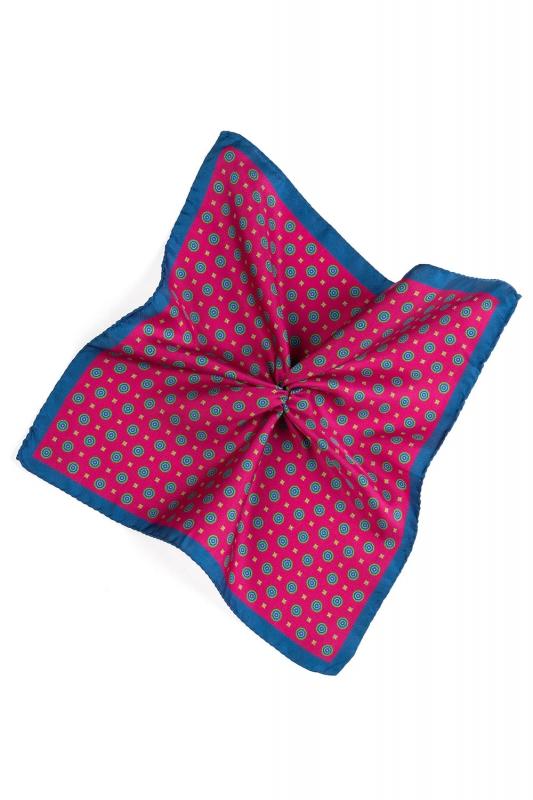 Batista roz print geometric matase tesuta