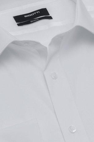 Camasa superslim stretch alba uni