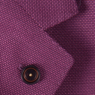 Pin sacou smart casual violet cu grena