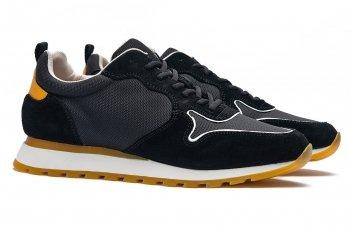 Sneakers Negri Piele naturala si textil