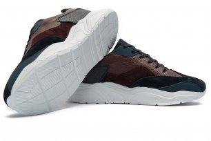 Sneakers bleumarin piele naturala si piele intoarsa