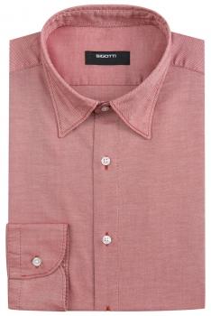 Slim Orange Plain Shirt