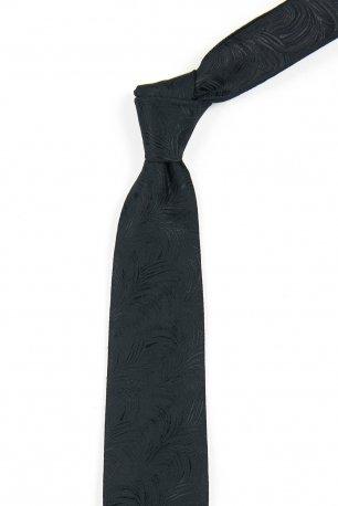 Cravata neagra cu structuri