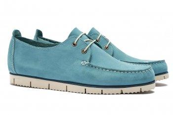 Pantofi Albastri Piele nabuc
