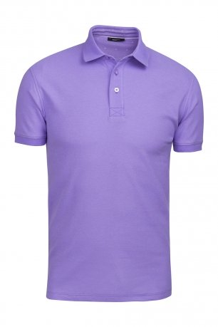 Tricou polo slim mov