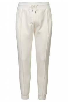 Slim body White Plain Trouser